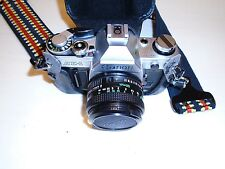 Canon AE-1 Vintage Camera with Telephoto Lens