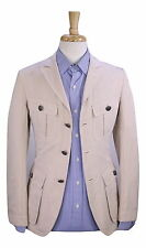 * TOM FORD * Current Model Beige Cotton Safari 3-Btn Unlined Blazer Jacket 36R