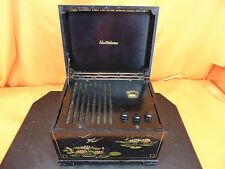 "Vintage 1948 ELECTROHOME PMU51-418 ""Music Box"" Oriental Painted Wood TUBE RADIO"