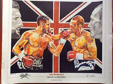 Carl Froch Signed ~ Froch v Groves 2 Art Print By Patrick J. Killian