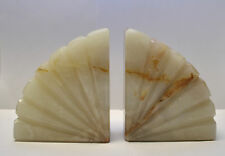 Pair of Heavy Onyx  Bookends