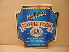 Mauldons Suffolk Pride Ale Beer Pump Clip face Pub Bar Collectible 59