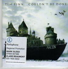 (BZ109) Tim Finn,  Couldn't Be Done - 2006 DJ CD