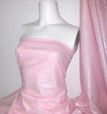 Pink Holographic Lycra/Spandex 4 way stretch Fabric