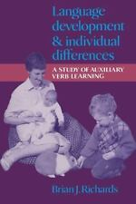 Language Development and Individual Differences: A Study of Auxiliary Verb Learn