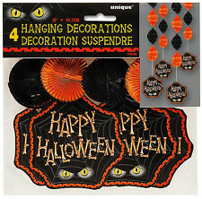 8 x Halloween Hanging Party Decorations Foil Swirls CHEAP Halloween Decorations