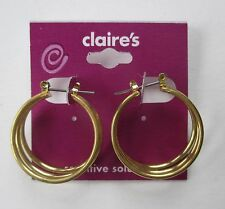 cc Gold Tone 3D Hoop earrings for sensitive ears Claire's Jewelry tarnished