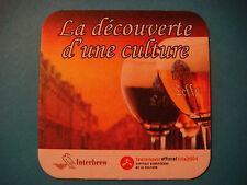 Beer Bar COASTER ~^~ LEFFE Belgian Bier ~ Lille, France 2004 ~ Culture of Europe