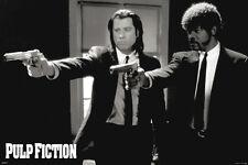 PULP FICTION DUO GUNS 24x36 poster TARANTINO TRAVOLTA JACKSON THURMAN KEITEL NEW
