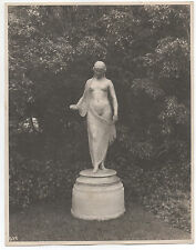 Large 1915 PPIE World's Fair San Francisco Photo of Statute Nude Draped Woman