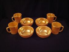 8 Piece Fire King Peach Lustre Chili Bowls & Mugs in MINT Condition