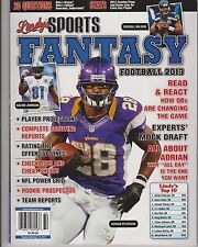LINDY'S SPORT MAGAZINE FANTASY FOOTBALL 2013, VOLUME 13, PLAYER PROJECTIONS.