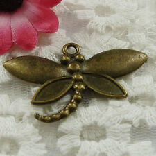 Free Ship 16 pieces bronze plated dragonfly pendant 44x27mm #893
