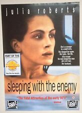 SLEEPING WITH THE ENEMY / ORIGINAL VINTAGE VIDEO FILM POSTER / JULIA ROBERTS 2