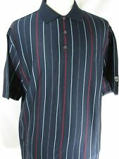 NIKE GOLF Men's Polo Shirt Casual Large Blue w/Strips