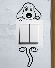 Cute Cartoon Doggy light switch funny wall decal vinyl stickers Puppy Pet Dog b