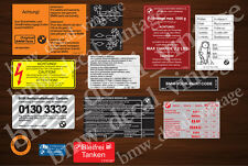 BMW e30 1982-1991 m20 320i, 323i, 325i, ALL SET RESTORATION, DECAL, STICKERS