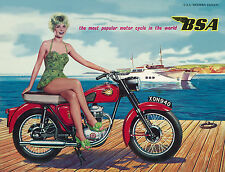 BSA Brochure A10 A7 DBD34 B33 C15 D1 D7 1960 USA Sales Catalog REPRO