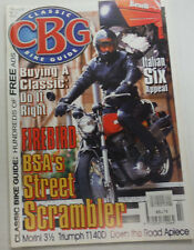 Classic Bike Guide Magazine Italian Sex Appeal & Firebird February 1997 012615R