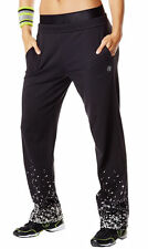 Authentic Zumba Tri-Me Jammin' Jersey Pants ~  Black   S, M  ~  NWT