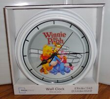 "WINNIE THE POOH  WALL CLOCK. 9"" DIA. DISNEY CARTOONS. EEYORE.....FREE SHIPPING"