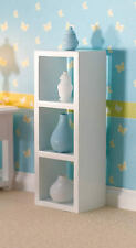 Versatile White Storage Unit, Doll House Miniature, Pots Not Included 1.12 Scale