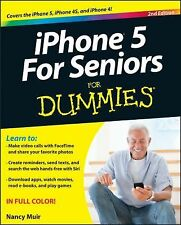 iPhone 5 For Seniors For Dummies, Muir, Nancy C., Good Condition, Book