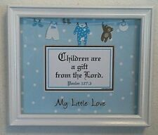 "Bible Scripture Plaque Christian""CHILDREN ARE A GIFT FROM THE LORD""BABY BOY GIFT"