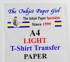 A4 Light T-Shirt Transfer Paper Matte Inkjet 5 sheets