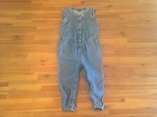 BABY GAP SOFT DENIM JUMPER ROMPER ONE PIECE OUTFIT RUFFLE SLEEVELESS 18-24M