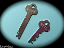 FLAT STEEL Locker Keys Cut From Code Number Cabinet, Desk & Locker Key-Free Post