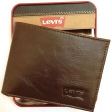 Levi's® Travel Men's Brown Genuine Leather Bifold Wallet 31LP2209  New In Box