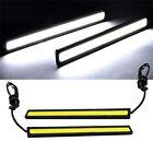 Bright White 12V LED COB Car Auto DRL Driving Daytime Running Lamp Fog Light