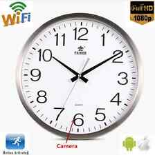 New Wifi 1080P HD Spy Hidden Wall Clock Camera Motion Detection Nanny Record Cam