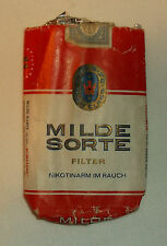 Vintage Milde Sorte Empty Cigarette Package Pack King Size - Austria