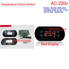 AC 220V LED Digital Temperature Meter Controller Thermostat Aquarium heat/cool