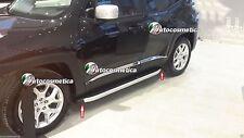 Pedane Steps Sottoporta nero con cornice esterna satinata complete Jeep Renegade