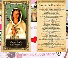 Prayer to the Rosa Mystica - Glossy Paperstock  Holy Card