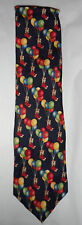 TEDDY Bear with balloons Tie 100% silk T28 Made in Italy vintage 90s