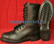 "USGI Military 10"" High CLIMBERS JUMP BOOTS Steel Toe FULL LEATHER Black 8.5R NIB"