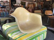 Early Zenith Herman Miller Eames Arm Shell Chair Yellow Large Shocks