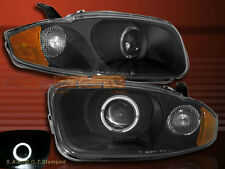 2003-2005 CHEVY CAVALIER HALO ANGEL EYE LED BLACK PROJECTOR HEADLIGHTS 2/4 DOOR