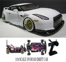 1/10 Scale NISSAN GT-R RTR Custom RC Drift Cars 4WD 2.4Ghz & Charger WHT