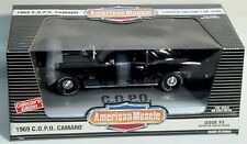 ERTL 1/18 1969 Chevy Camaro C.O.P.O COPO Black Car #7872 American Muscle DAMAGE