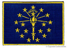 INDIANA STATE FLAG embroidered iron-on PATCH EMBLEM new APPLIQUE