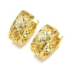Amazing 18k Yellow Gold Filled Womens Earrings Fashion Hoops Jewelry New