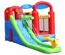 Bounce House With Slide For Kids Ball Pit Water Inflatable Moonwalk Party Jumper