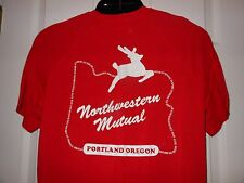 Cool PORTLAND OR NW Mutual DEER SIGN Icon STAG White XMAS Red ATHLETIC TShirt M