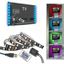 2 x 50cm RGB USB LED MOOD LIGHTS HOME THEATRE TV BACKLIGHT STRIP MULTICOLOR MODE
