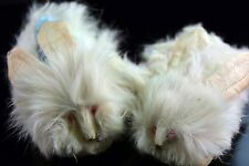 Vintage Bunny Face Fur Baby / Doll Booties – Cute!